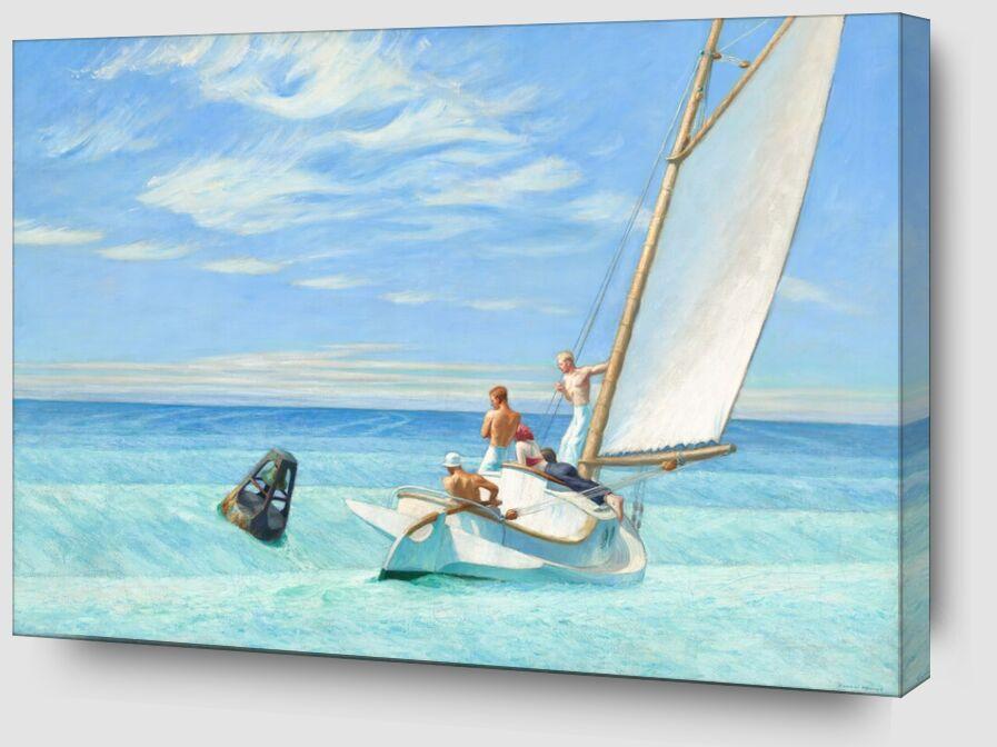 Houle de Terre - Edward Hopper de AUX BEAUX-ARTS Zoom Alu Dibond Image