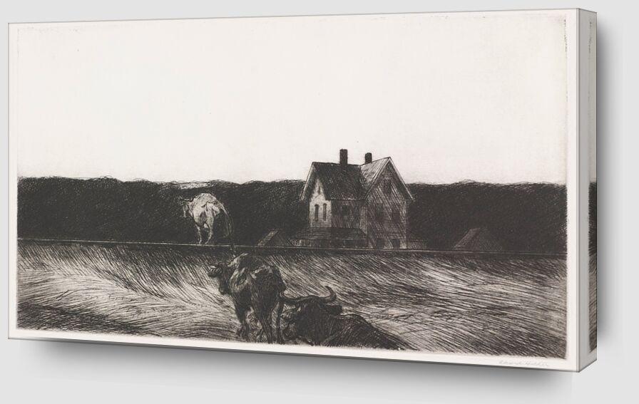 Paysage Américain - Edward Hopper de AUX BEAUX-ARTS Zoom Alu Dibond Image