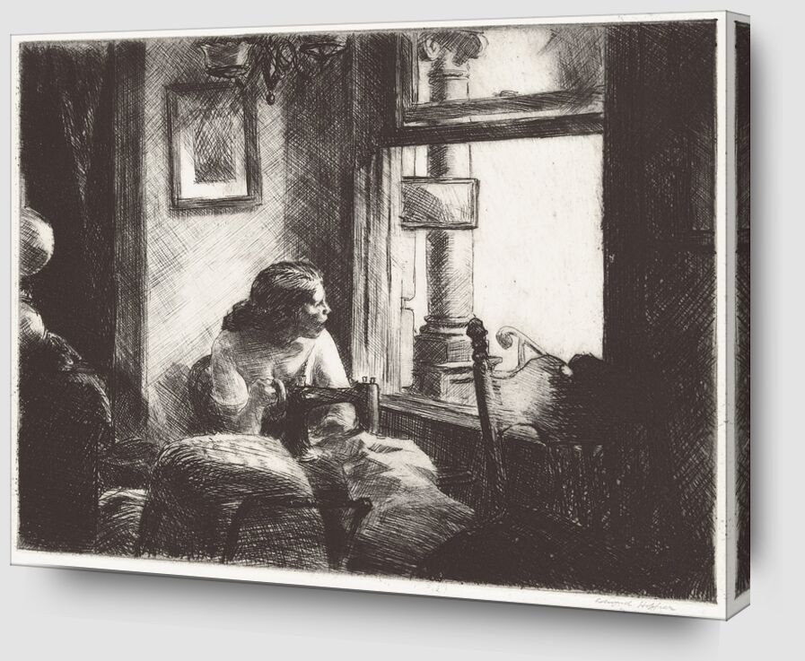 Intérieur à East Side - Edward Hopper de AUX BEAUX-ARTS Zoom Alu Dibond Image