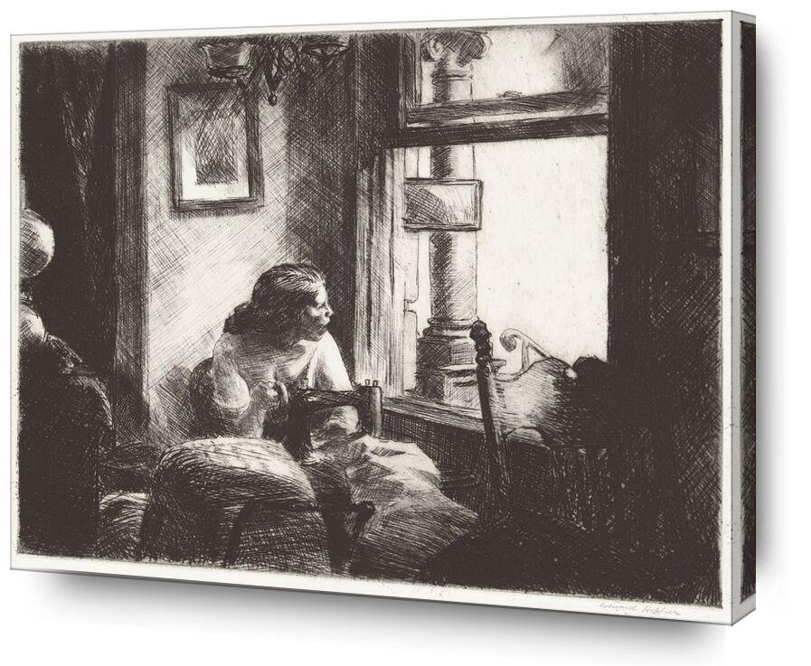Intérieur à East Side - Edward Hopper de AUX BEAUX-ARTS, Prodi Art, Edward Hopper, femme, couture, New York
