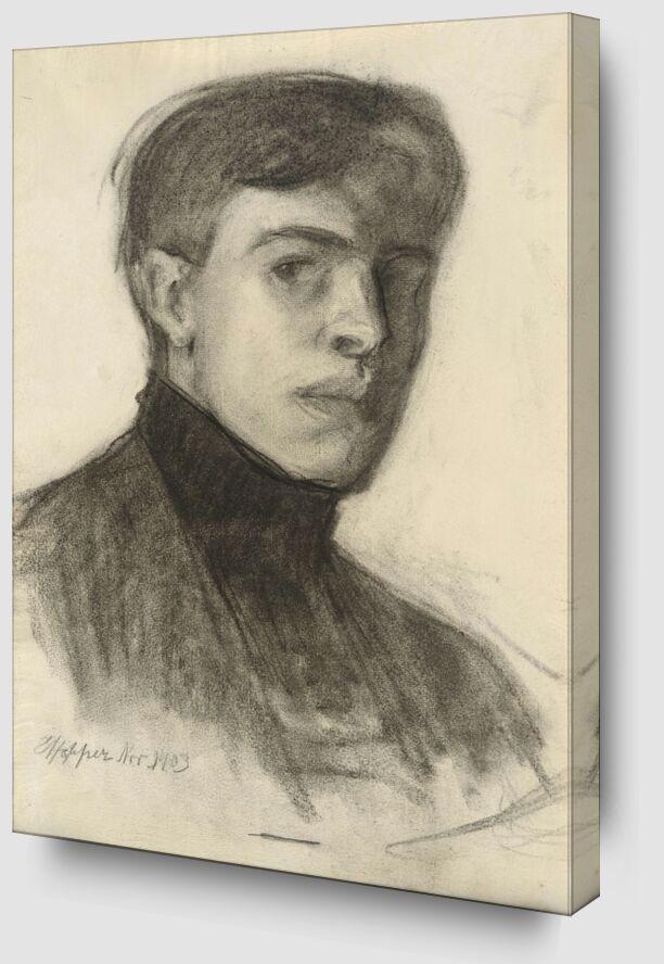 Edward Hopper Autoportrait de AUX BEAUX-ARTS Zoom Alu Dibond Image