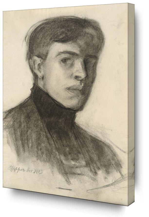 Edward Hopper Autoportrait de AUX BEAUX-ARTS, Prodi Art, Edward Hopper, autoportrait, dessin, crayon