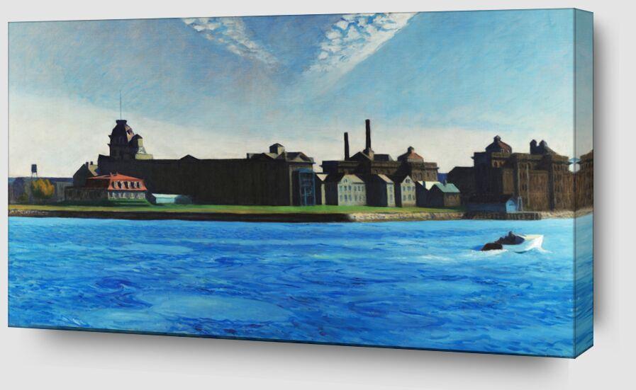 Île de Blackwell - Edward Hopper de AUX BEAUX-ARTS Zoom Alu Dibond Image