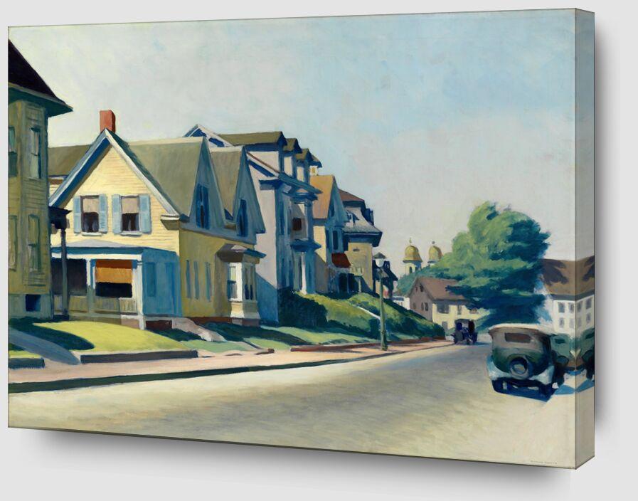 Soleil sur la Rue Prospect (Gloucester, Massachusetts) - Edward Hopper de AUX BEAUX-ARTS Zoom Alu Dibond Image