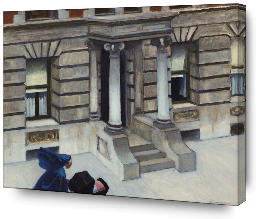 Les Trottoirs de New York - Edward Hopper de AUX BEAUX-ARTS, Prodi Art, Edward Hopper, New York, trottoirs