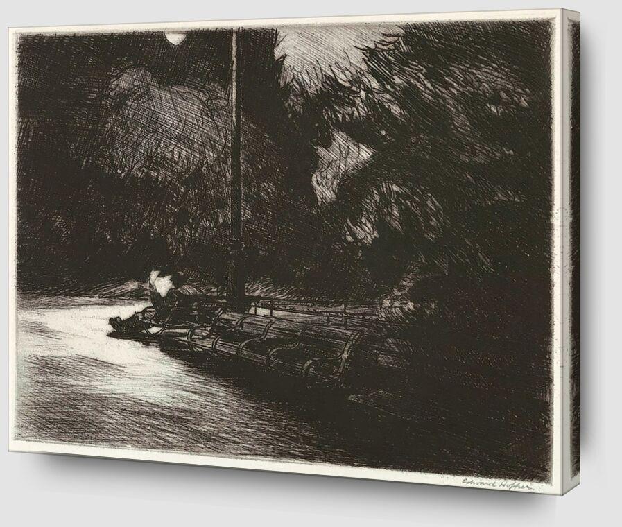 Nuit dans le Parc - Edward Hopper de AUX BEAUX-ARTS Zoom Alu Dibond Image