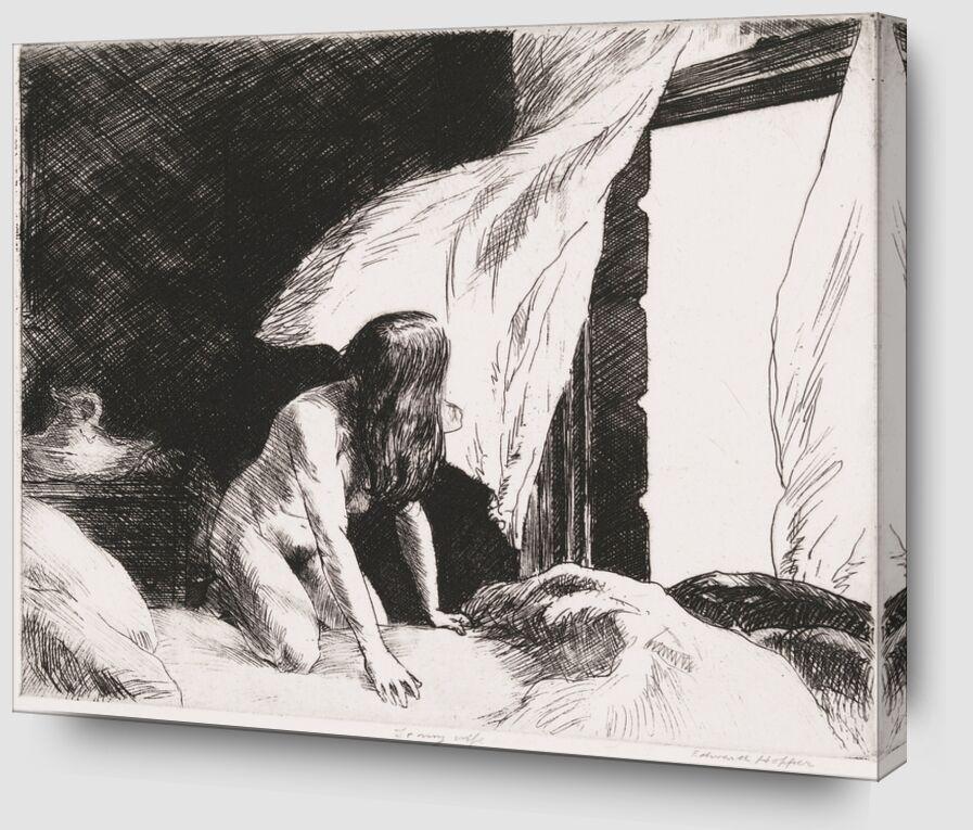 Vent du Soir - Edward Hopper de AUX BEAUX-ARTS Zoom Alu Dibond Image