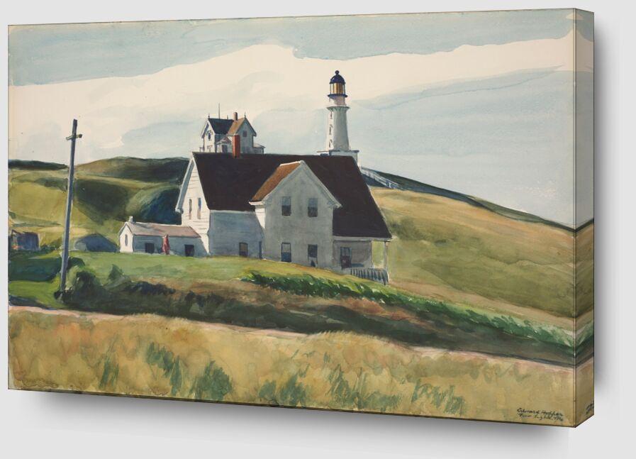 Colline et Maisons, Cape Elizabeth, Maine - Edward Hopper de AUX BEAUX-ARTS Zoom Alu Dibond Image