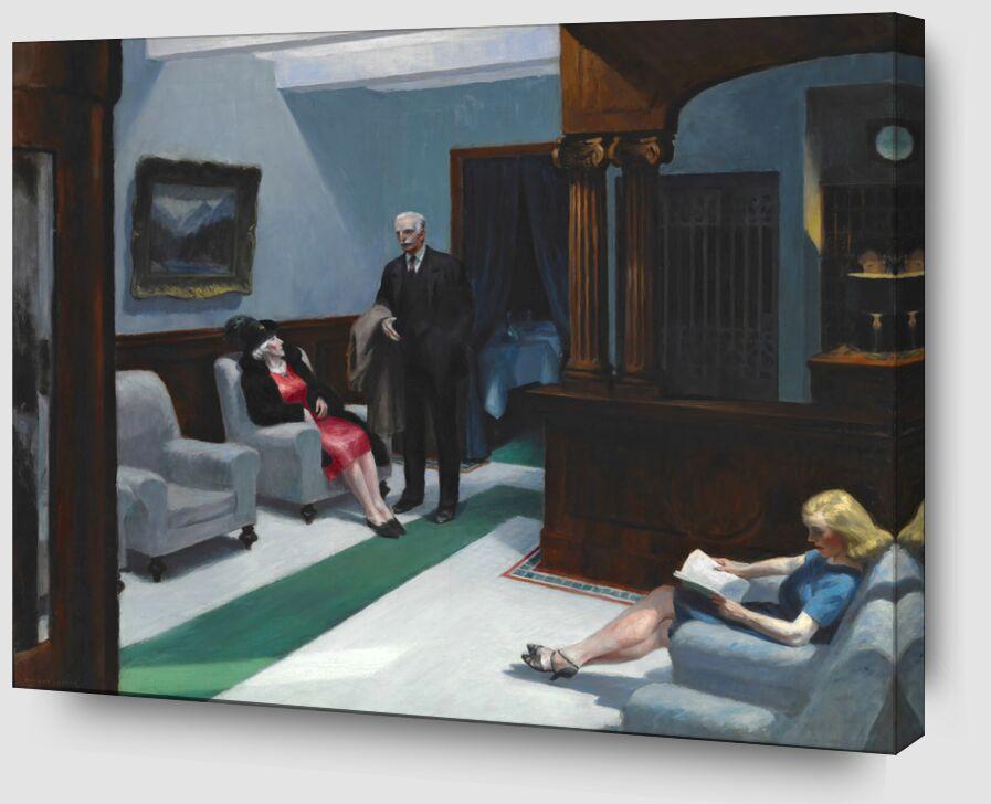 Hotel Lobby - Edward Hopper de AUX BEAUX-ARTS Zoom Alu Dibond Image