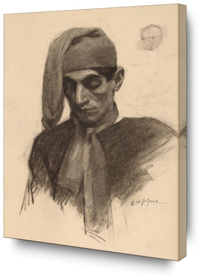 Jimmy Corsini - Edward Hopper from AUX BEAUX-ARTS, Prodi Art, portrait, Edward Hopper, pencil, pencil drawing, black-and-white