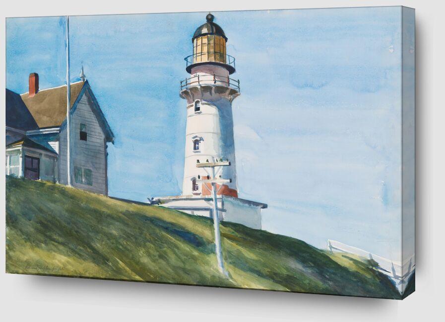 Lumière à Deux Lumières - Edward Hopper de AUX BEAUX-ARTS Zoom Alu Dibond Image