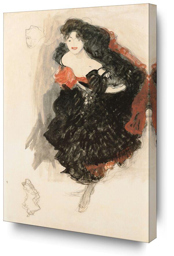 Étude pour Judith II - Gustav Klimt de AUX BEAUX-ARTS, Prodi Art, KLIMT, étude, peinture, portrait, dessin au crayon
