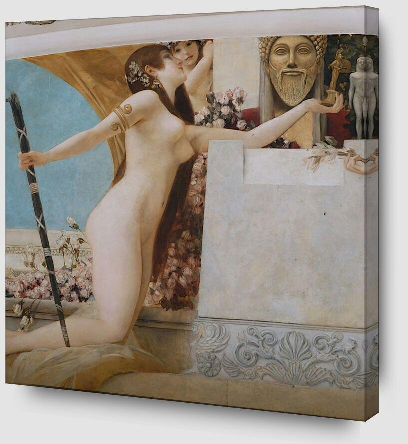 """""""L'Autel de Dionysos """" Détail - Gustav Klimt de AUX BEAUX-ARTS Zoom Alu Dibond Image"""