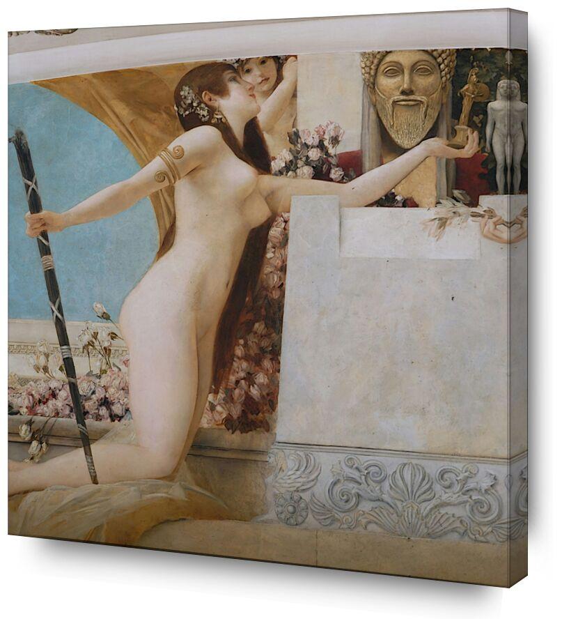 """""""L'Autel de Dionysos """" Détail - Gustav Klimt de AUX BEAUX-ARTS, Prodi Art, KLIMT, peinture, autel, dionysos"""