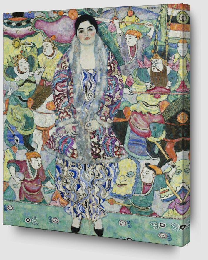 Portrait de Friedericke Maria Beer - Gustav Klimt de AUX BEAUX-ARTS Zoom Alu Dibond Image