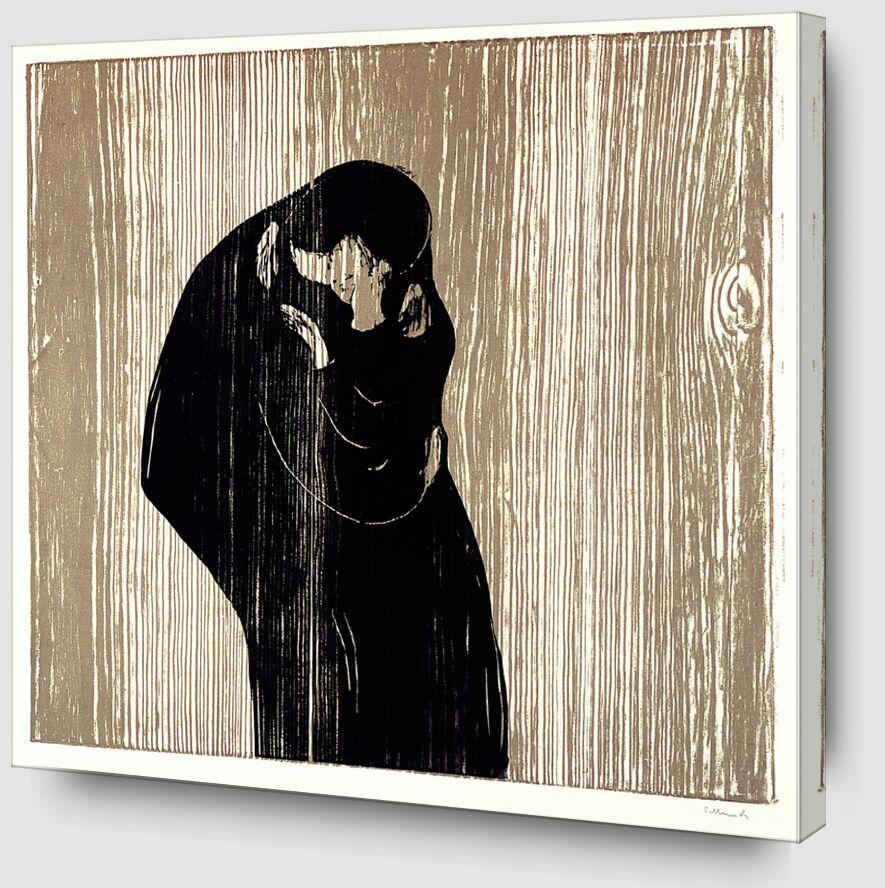 Le Baiser IV - Edvard Munch de AUX BEAUX-ARTS Zoom Alu Dibond Image