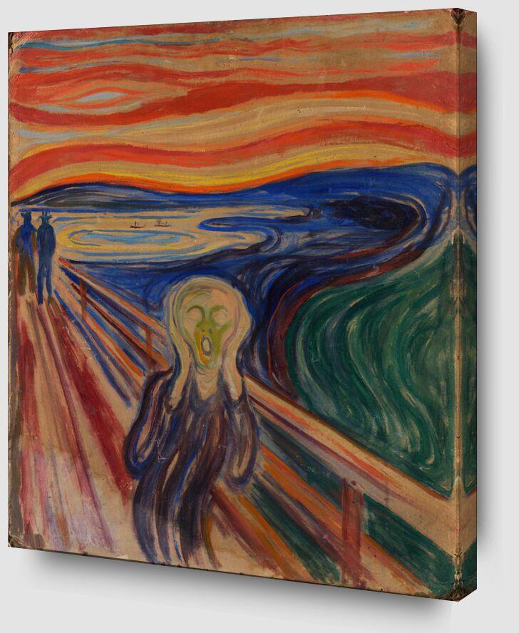 Le Cri - Edvard Munch de AUX BEAUX-ARTS Zoom Alu Dibond Image