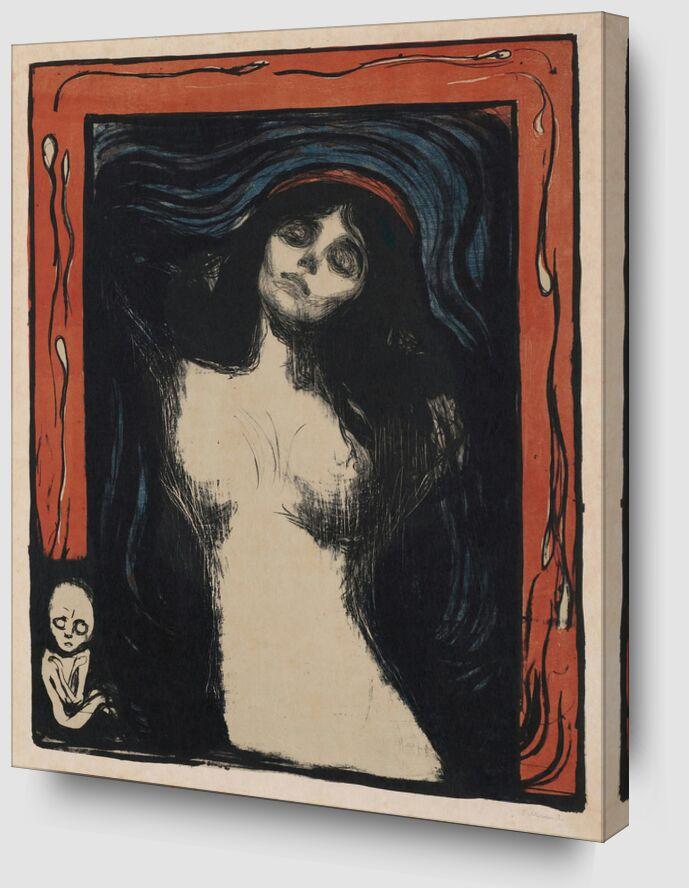 Madonna II - Edvard Munch de AUX BEAUX-ARTS Zoom Alu Dibond Image