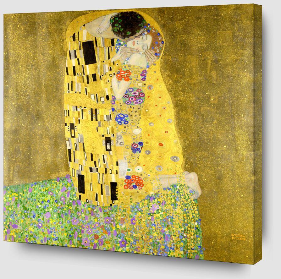 Le baiser - Gustav Klimt de AUX BEAUX-ARTS Zoom Alu Dibond Image