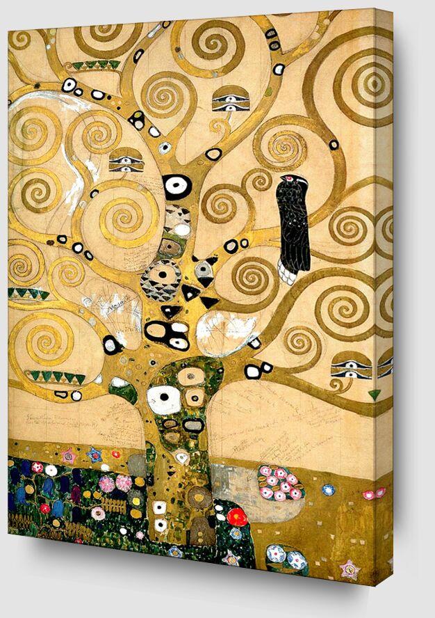 L'arbre de vie - Gustav Klimt de AUX BEAUX-ARTS Zoom Alu Dibond Image