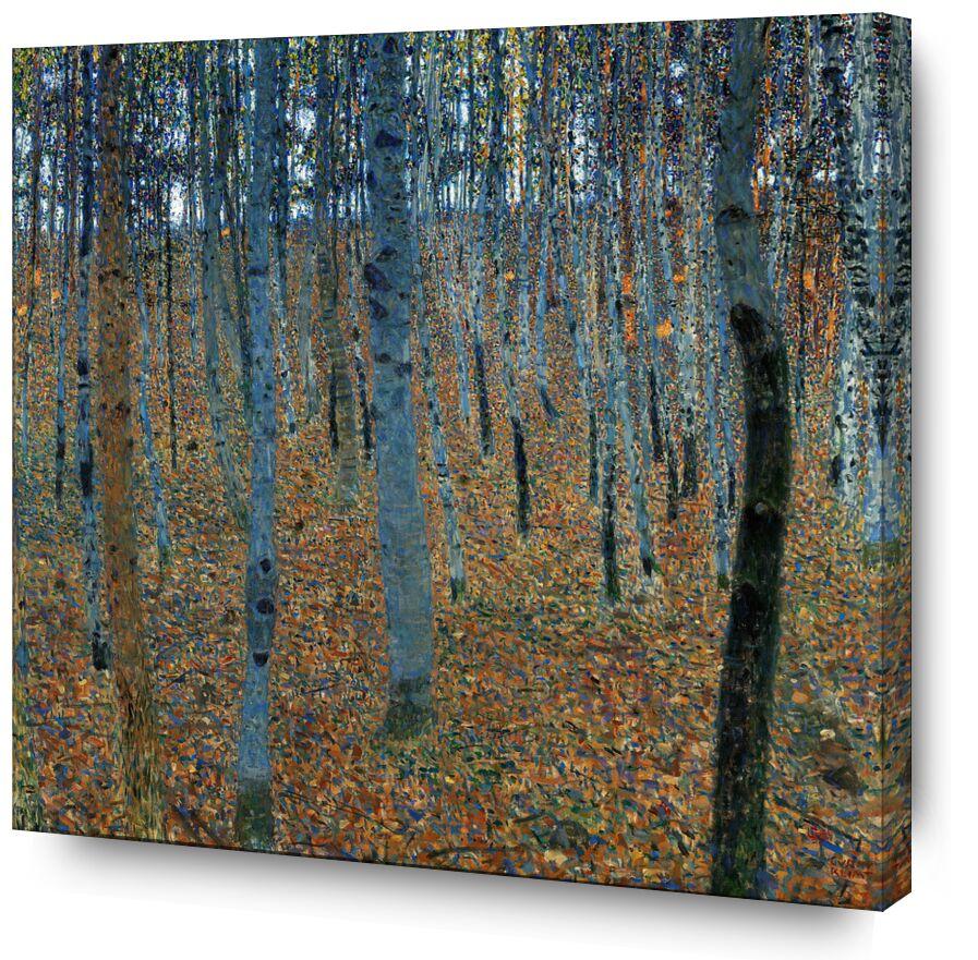 Forêt de bouleaux - Gustav Klimt de AUX BEAUX-ARTS, Prodi Art, forêt, l'automne, feuilles, des arbres, KLIMT, art nouveau, bouleaux