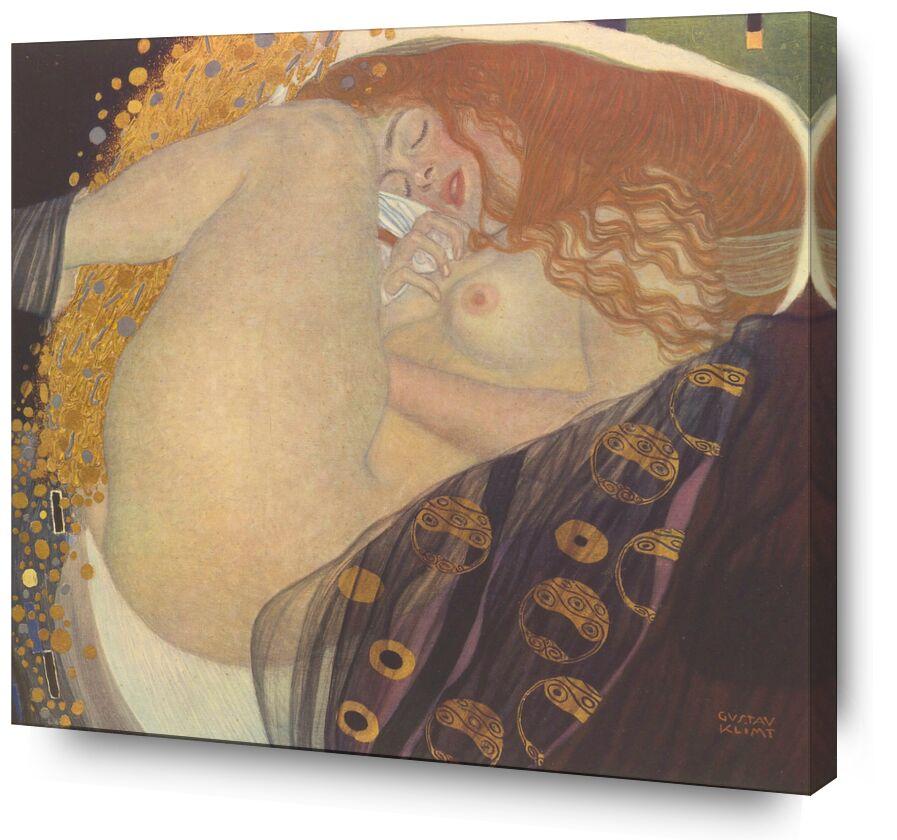 Danae I - Gustav Klimt de AUX BEAUX-ARTS, Prodi Art, KLIMT, rêver, coucher, nuit, drap, rousse, nu, femme, peinture, art nouveau