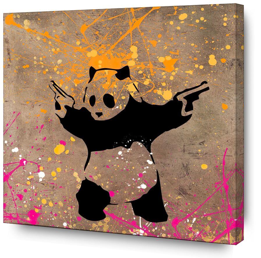 Le Panda avec des Flingues - BANKSY de AUX BEAUX-ARTS, Prodi Art, Panda, flingues, art de rue, Banksy, graffiti