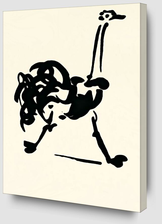 L'autruche - Picasso de AUX BEAUX-ARTS Zoom Alu Dibond Image