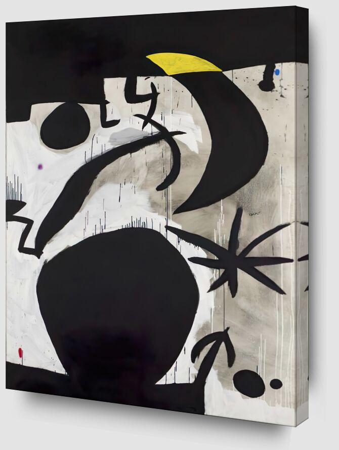 Femme et Oiseaux Dans la Nuit, 1969 - 1974 - Joan Miró de AUX BEAUX-ARTS Zoom Alu Dibond Image
