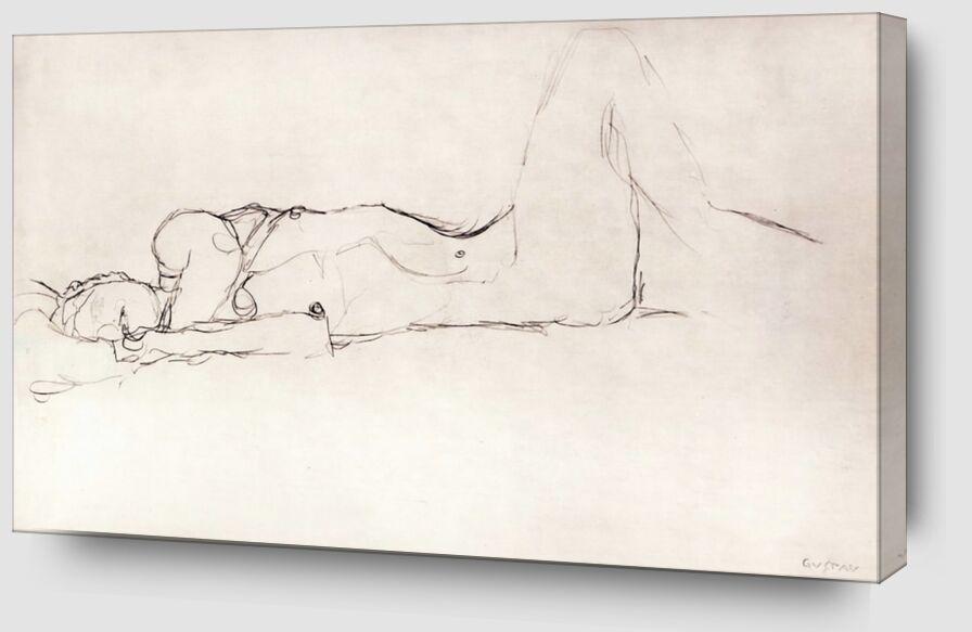 Femme Nue au Lit - KLIMT de AUX BEAUX-ARTS Zoom Alu Dibond Image