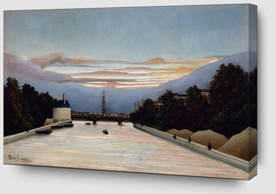 La tour Eiffel de AUX BEAUX-ARTS Zoom Alu Dibond Image