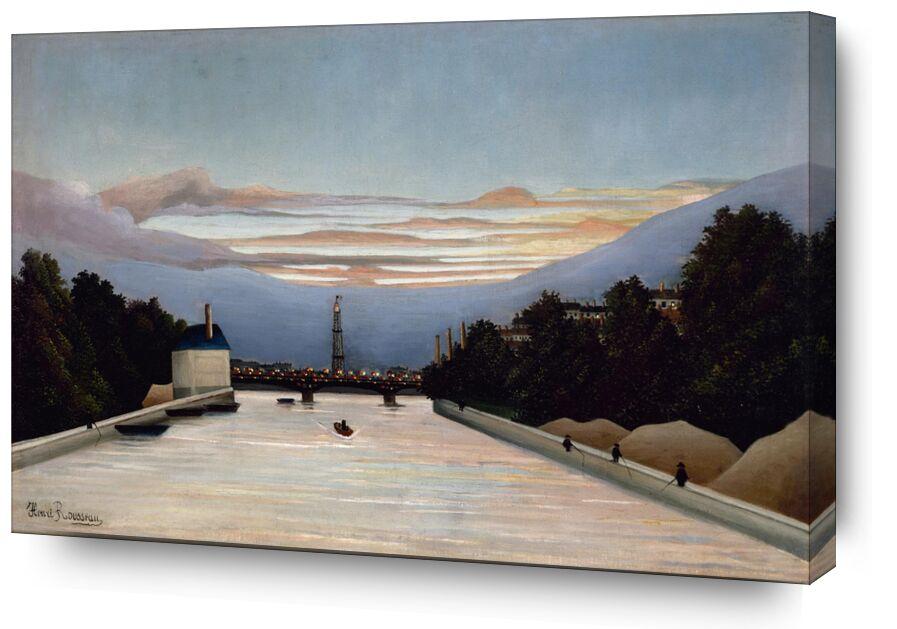 La tour Eiffel de AUX BEAUX-ARTS, Prodi Art, peinture, tour Eiffel, paris, France, Rousseau, canal