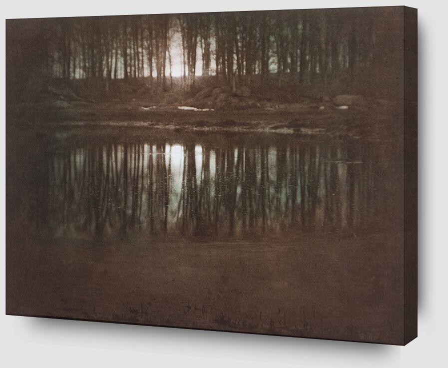 L'étang-lumière de la lune -Edward Steichen 1904 de AUX BEAUX-ARTS Zoom Alu Dibond Image