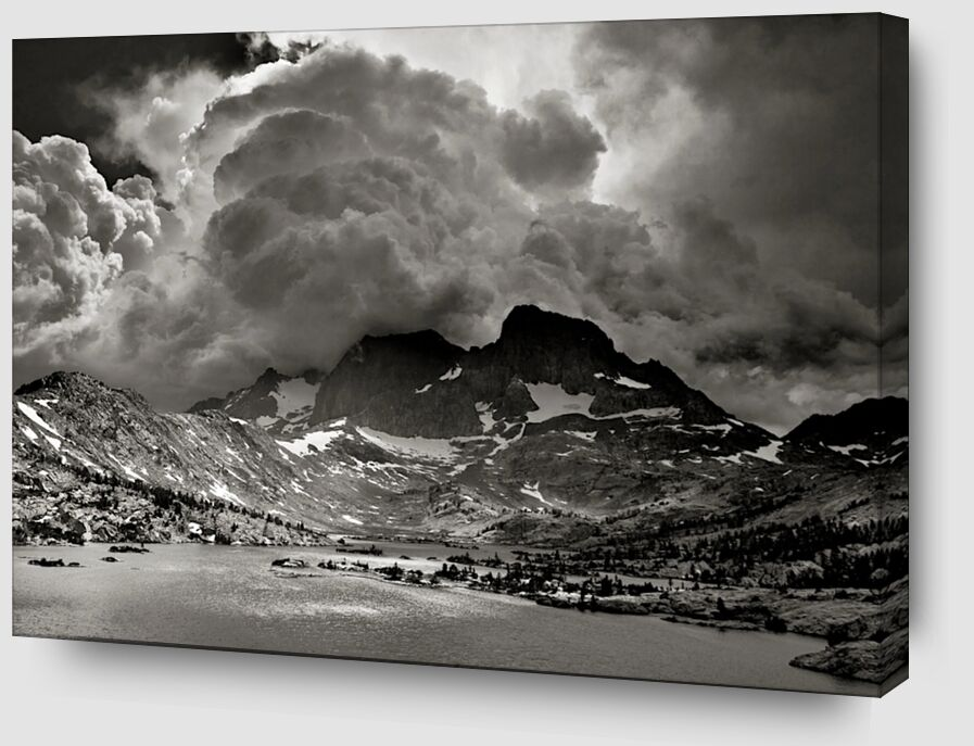Garnet Lake, Californie, ANSEL ADAMS de AUX BEAUX-ARTS Zoom Alu Dibond Image