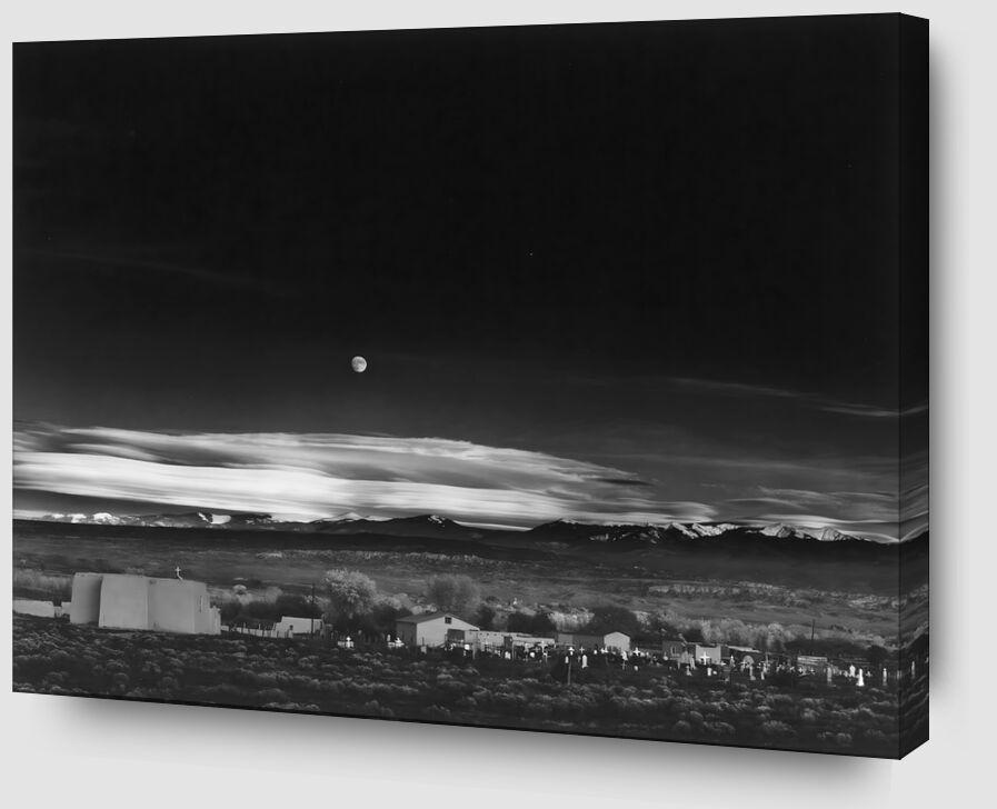 Moonrise, Hernandez, Nouveau-Mexique - Ansel Adams 1941 de AUX BEAUX-ARTS Zoom Alu Dibond Image