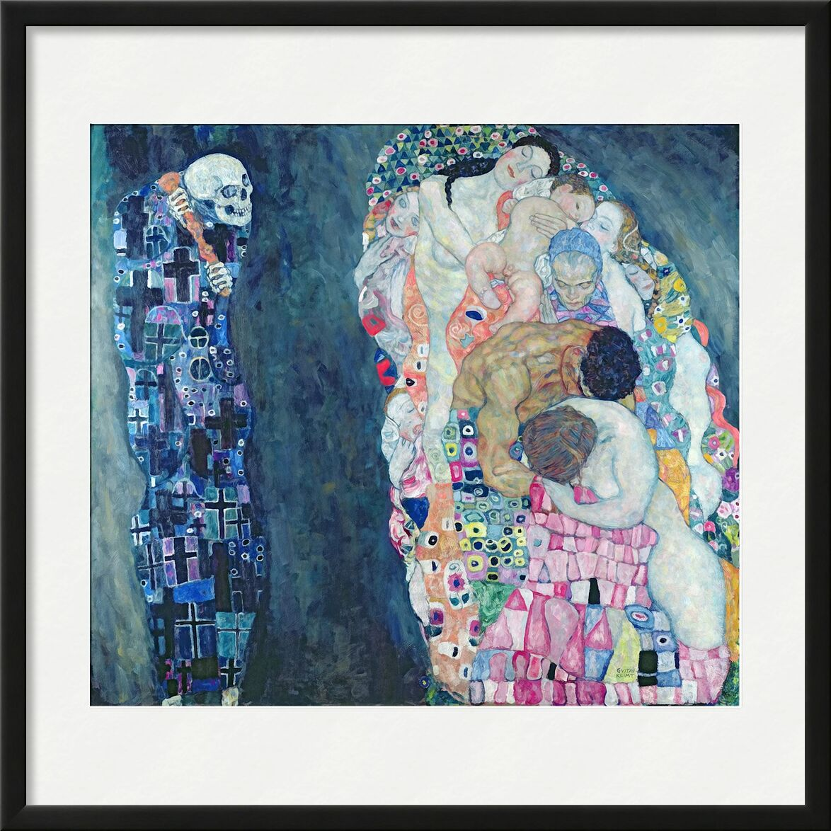 Death and Life, circa 1911 - Gustav Klimt from AUX BEAUX-ARTS, Prodi Art, circle of life, abstract, painting, death, life, KLIMT