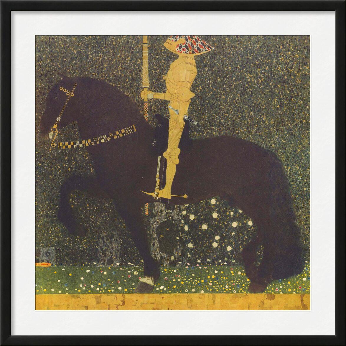 Life Is a Struggle (The Golden Knight) 1903 - Gustav Klimt from AUX BEAUX-ARTS, Prodi Art, painting, gold, combat, War, horse, KLIMT