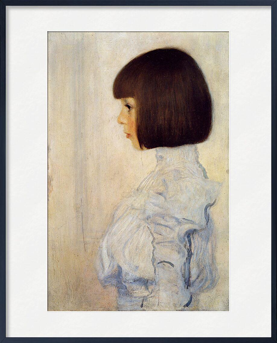 Portrait of Helene Klimt - Gustav Klimt von AUX BEAUX-ARTS, Prodi Art, KLIMT, Frau, Porträt, braun, Malerei