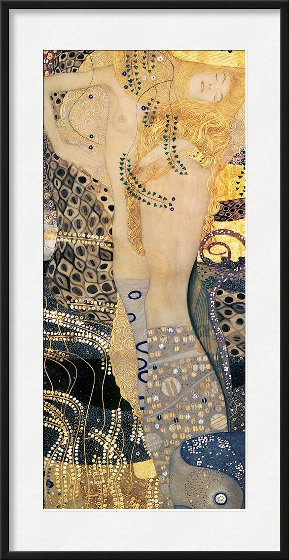 Serpents d'eau I - Gustav Klimt de AUX BEAUX-ARTS, Prodi Art, KLIMT, serpent, femme, peinture, or, cheveux