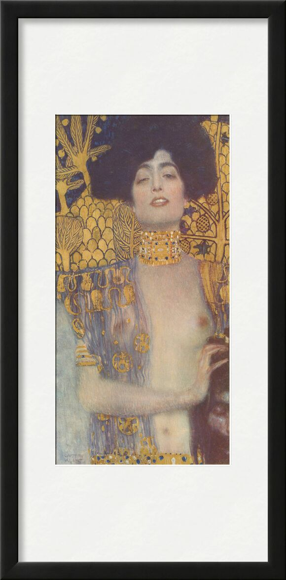 Judith, 1901 - Gustav Klimt from AUX BEAUX-ARTS, Prodi Art, KLIMT, woman, portrait, be, nude, gold