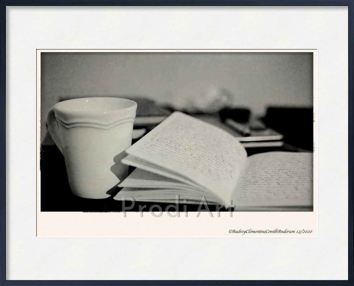 Insomnia from Audrey Clémentine Conilh Anderson, Prodi Art, coffee, the, cup, notebook, book, calm, inspiration, white, black, black-and-white, morning, game, reflection, old france, antique, France, feather pen, history, creative, creativity, organization, travel, feather, pen, America, USA, england, meditation, note taking, notebook, notes, note