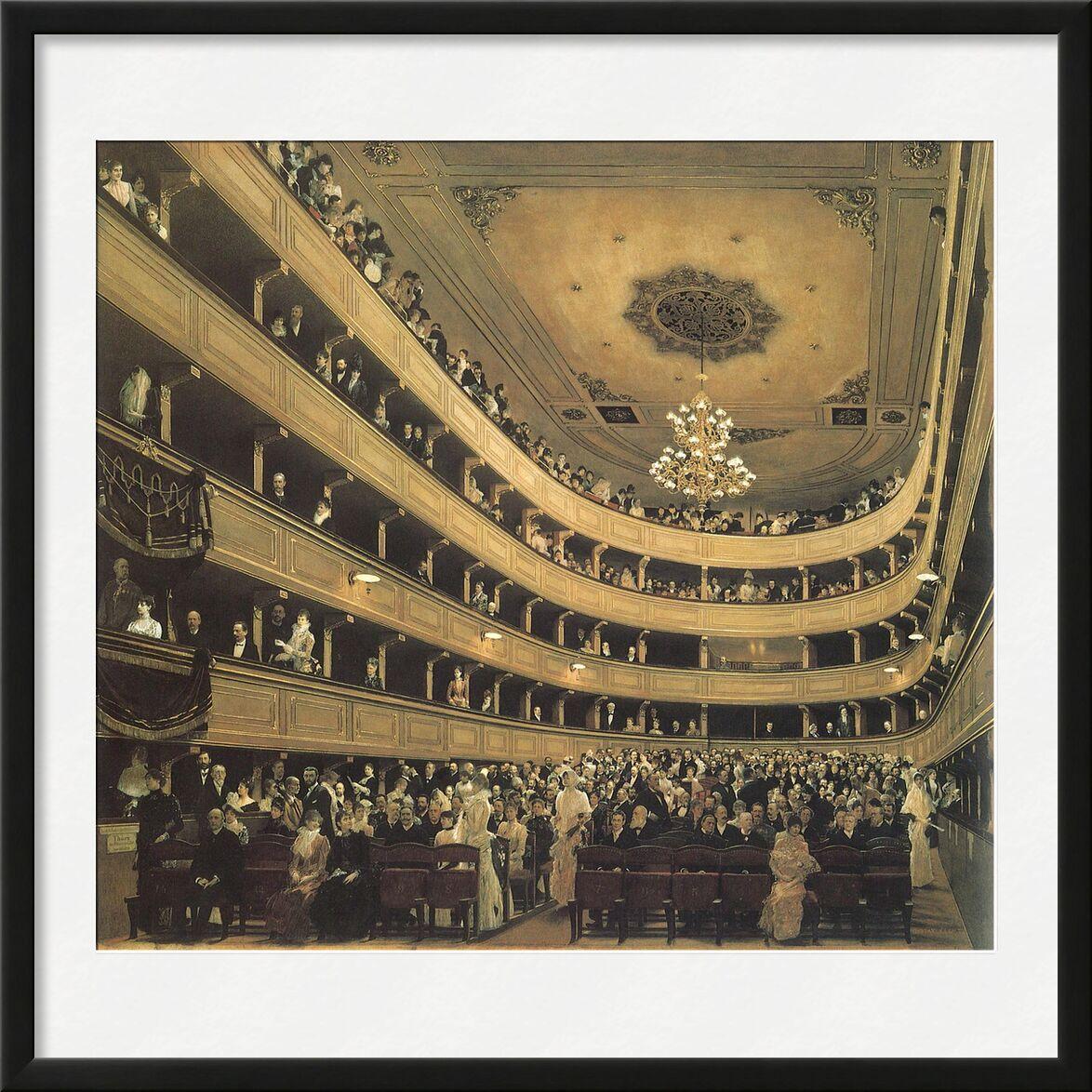 The Auditorium of the Old Castle Theatre, 1888 - Gustav Klimt von AUX BEAUX-ARTS, Prodi Art, KLIMT, Chateau, Malerei, Oper, Theater, realistisch