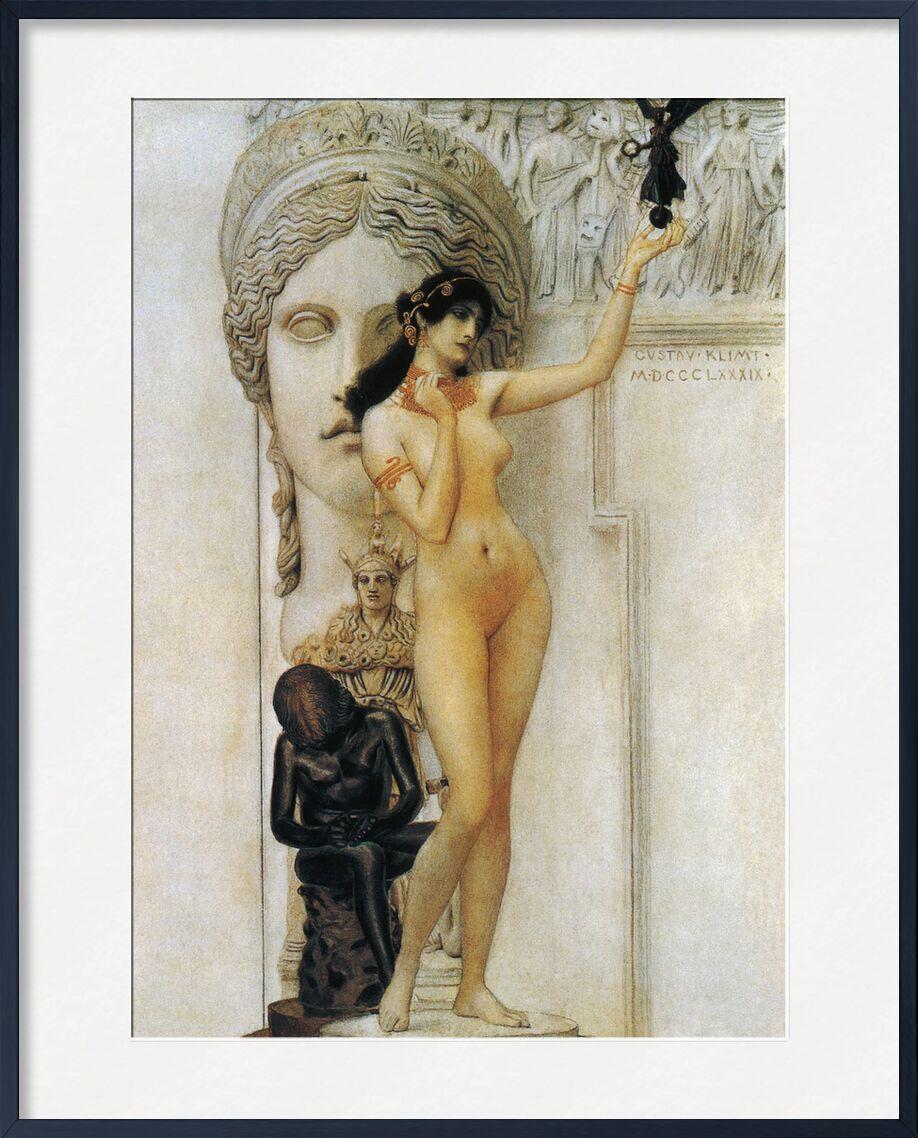 Allegory of Sculpture - Gustav Klimt from AUX BEAUX-ARTS, Prodi Art, KLIMT, sculpture, woman, nude, statue, roman, allegory