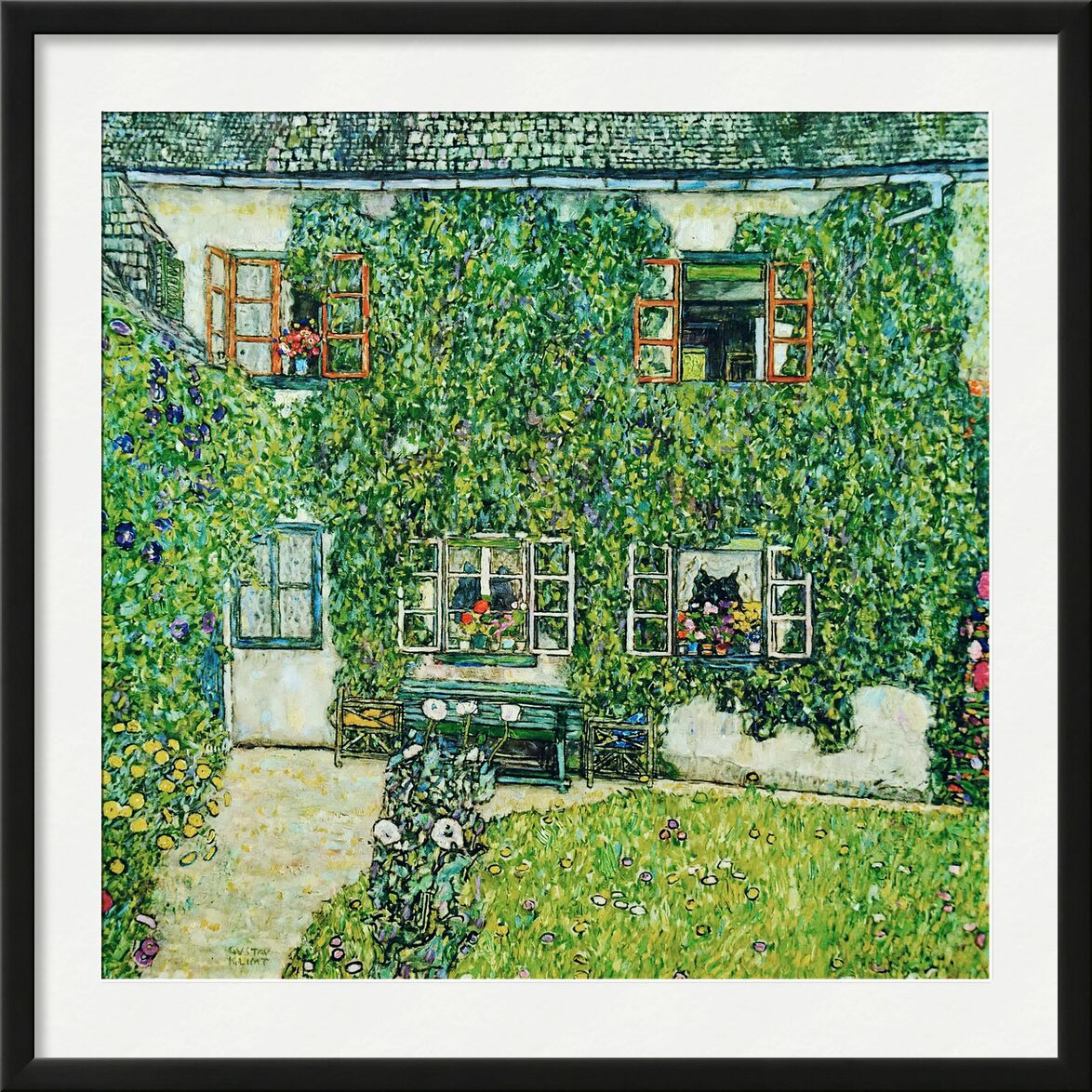 Forestry House in Weissenbach on Attersee-Lake - Gustav Klimt from AUX BEAUX-ARTS, Prodi Art, KLIMT, House, countryside, nature, Villa