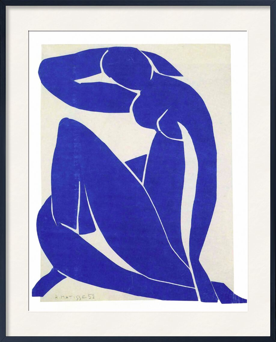 Blue Nude II - Henri Matisse from AUX BEAUX-ARTS, Prodi Art, blue, nude, drawing, painting, Matisse