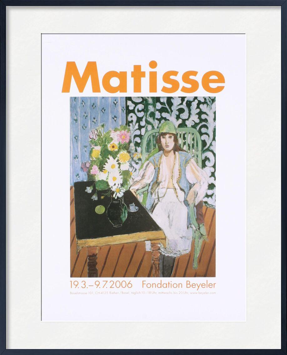 The Black Table - Henri Matisse desde AUX BEAUX-ARTS, Prodi Art, Matisse, mesa, cocina, mujer, sombrero, flores