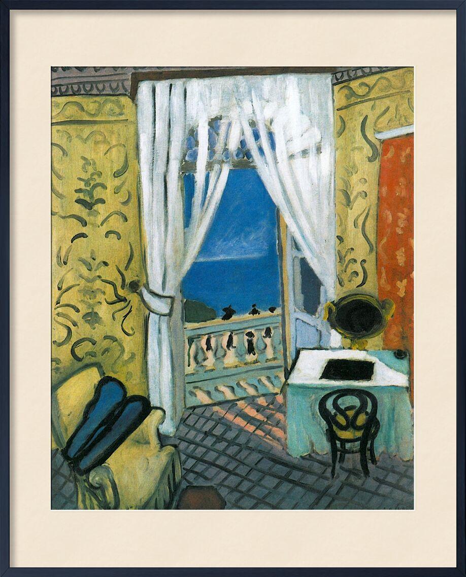 Still Life with Violin Case - Henri Matisse von AUX BEAUX-ARTS, Prodi Art, Matisse, Violine, Musik, Meer, Fenster, Wohnzimmer