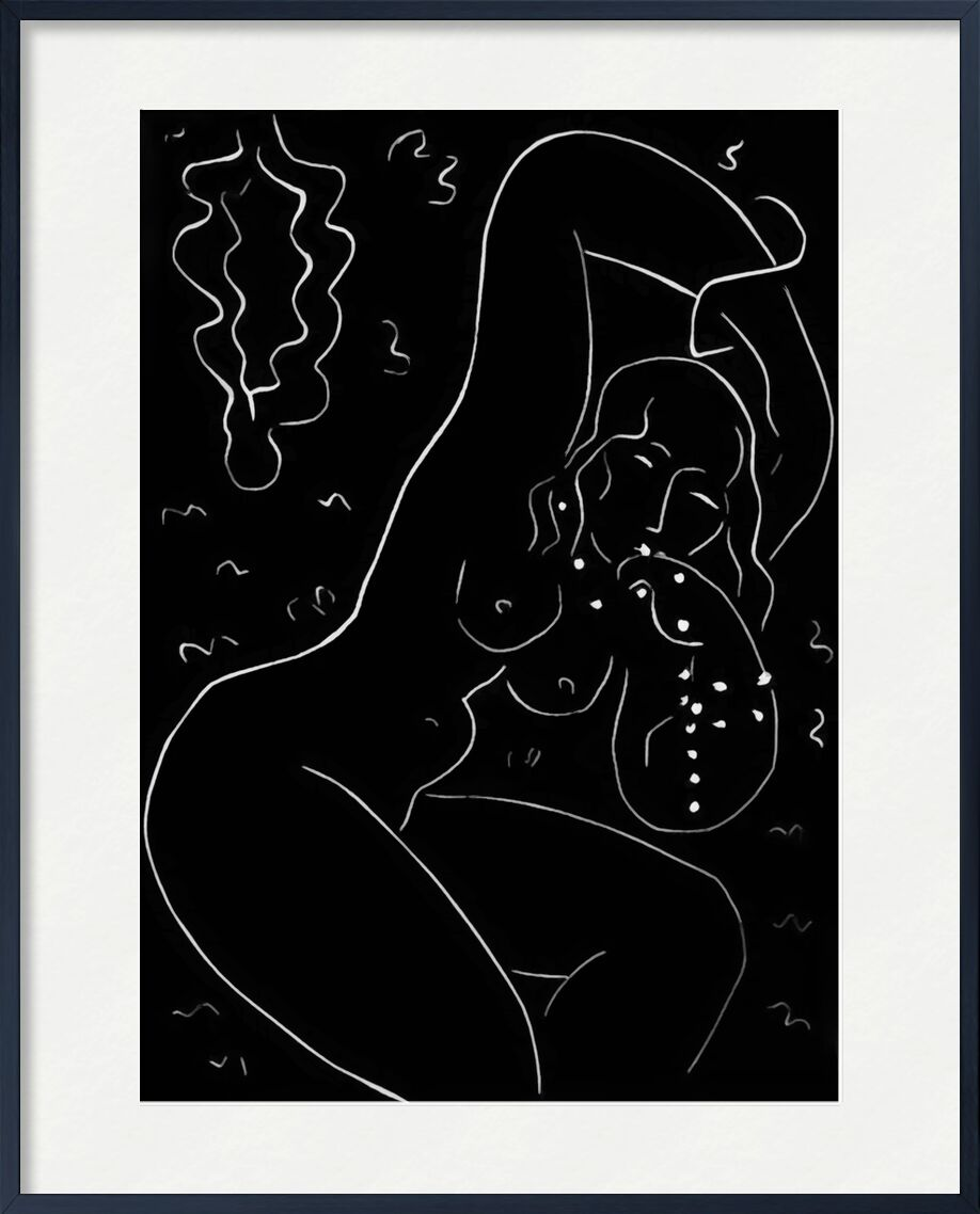 Nude with Bracelet - Henri Matisse from AUX BEAUX-ARTS, Prodi Art, Matisse, black-and-white, drawing, pencil, nude, woman, jewelry, bracelet