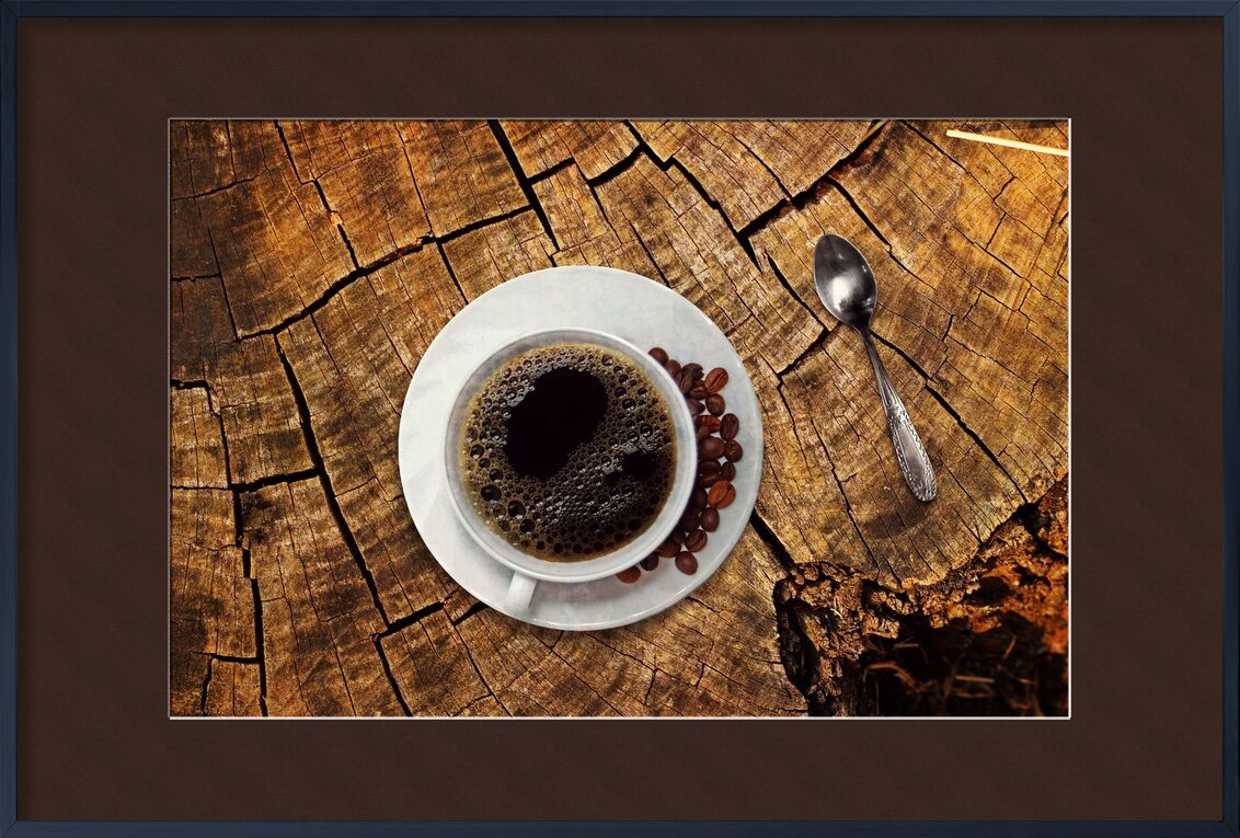 The coffee tree from Pierre Gaultier, Prodi Art, wood grain, coffee break, coffee spoon, gastronomy, break, benefit from, wooden table, beans, coffee cup, old, wood, aroma, table, still life, coffee beans, beverage, cup, coffee