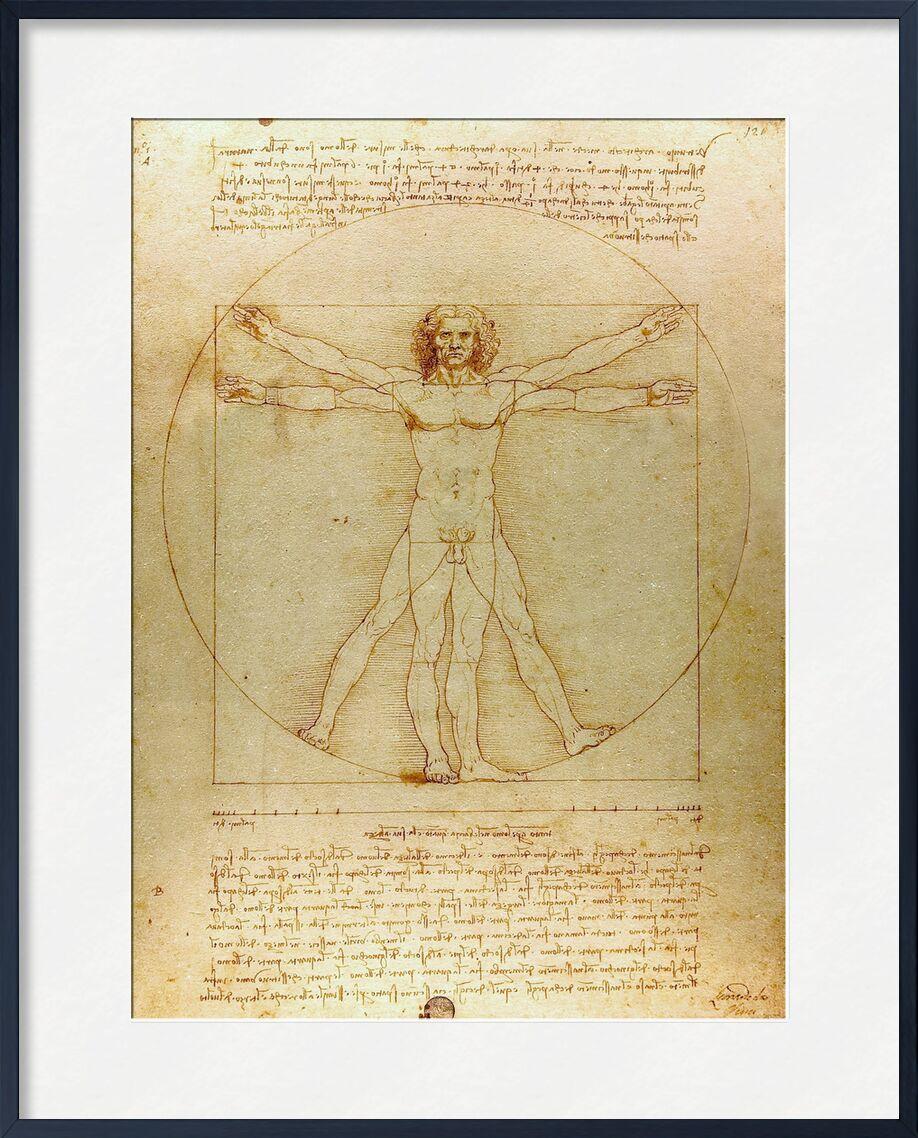 Homme de Vitruve - Léonard de Vinci de AUX BEAUX-ARTS, Prodi Art, homme, nature, De Vinci, dessin, crayon, Leonard da vinci, géométrie